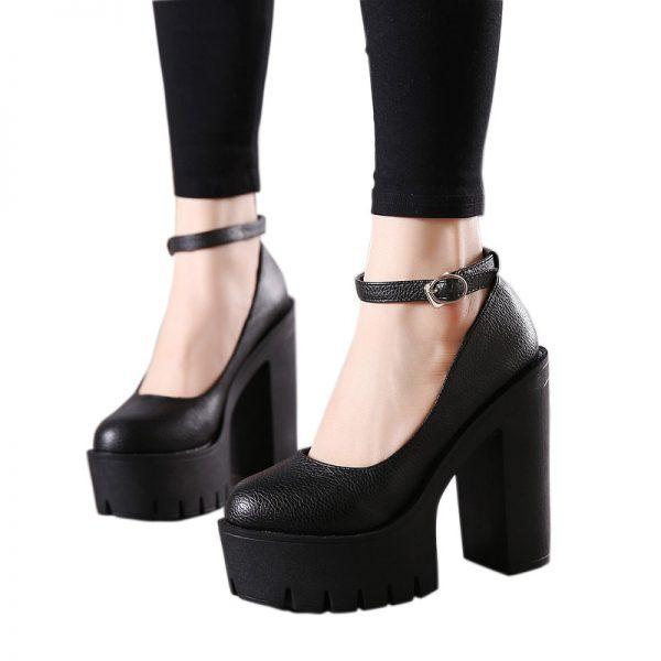 High-heeled platform shoe 5