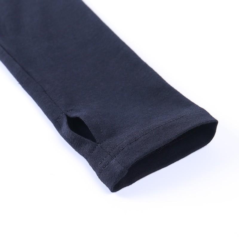 Black Bodycon Long Sleeve Crop Top E-girl 45