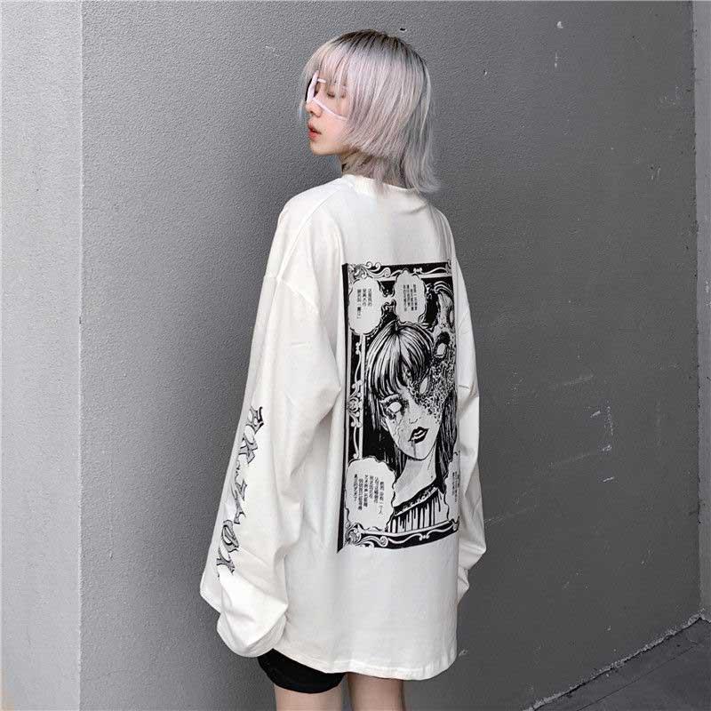 Cartoon Horror Graphic T-shirt E-girl 41