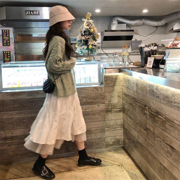 Long Midi Skirts  with Elastic High Waist 4