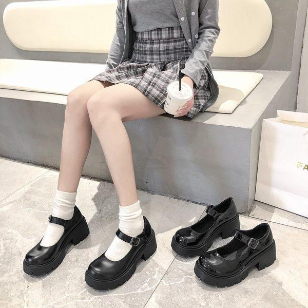 Lolita Vintage Shoes with High Heel Platform 19