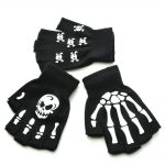 Knitting Half Finger Glove with Skeleton 14