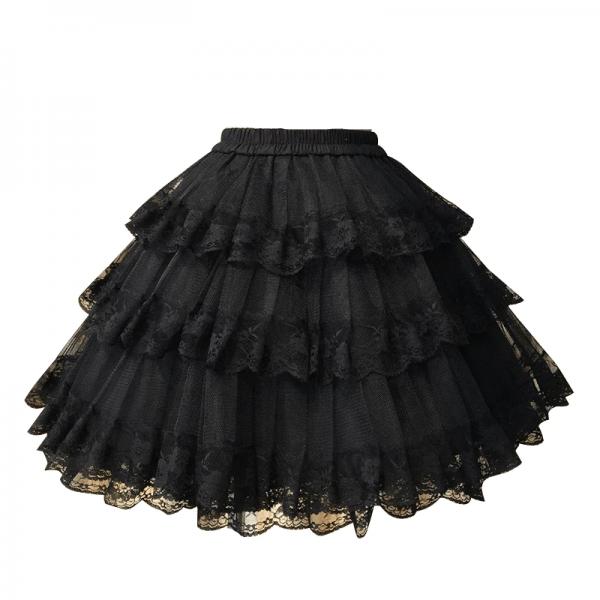 White/Black Lace Petticoat/Tutu Skirt