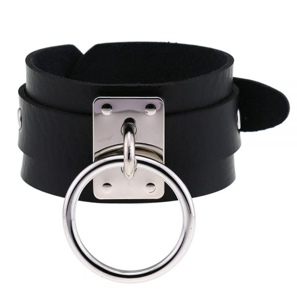 Leather Wristband with ring 4
