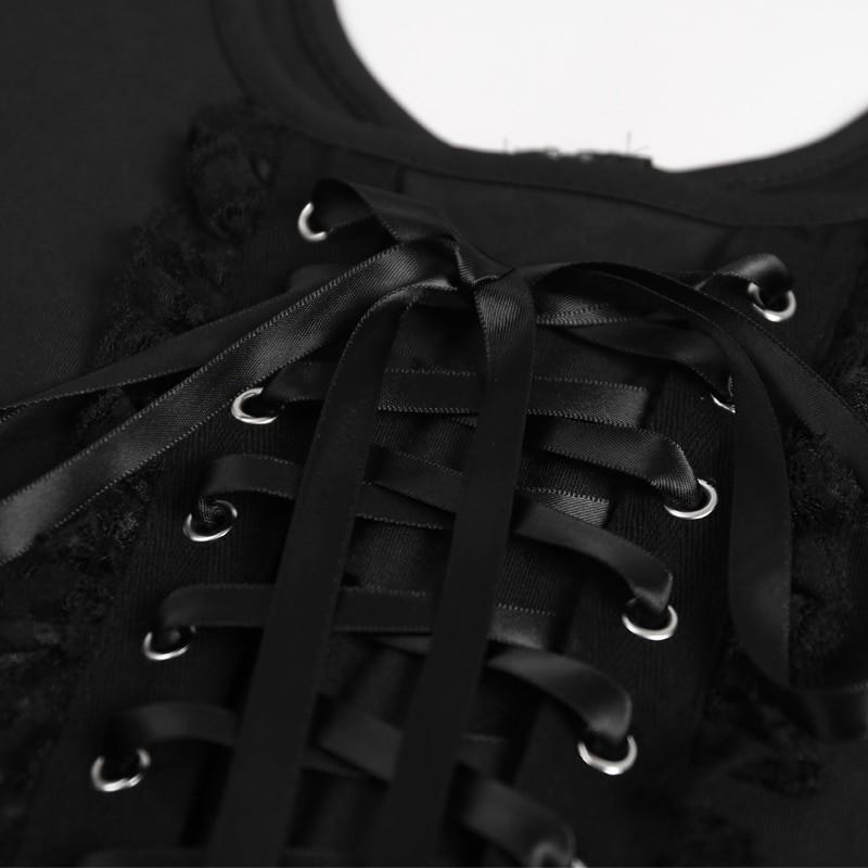 Black Lace Tank Top E-girl Gothic 50