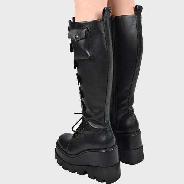 High Heels mid-calf Boots with Platform 3