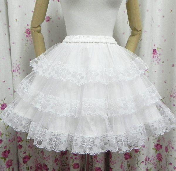 White/Black Lace Petticoat/Tutu Skirt 3
