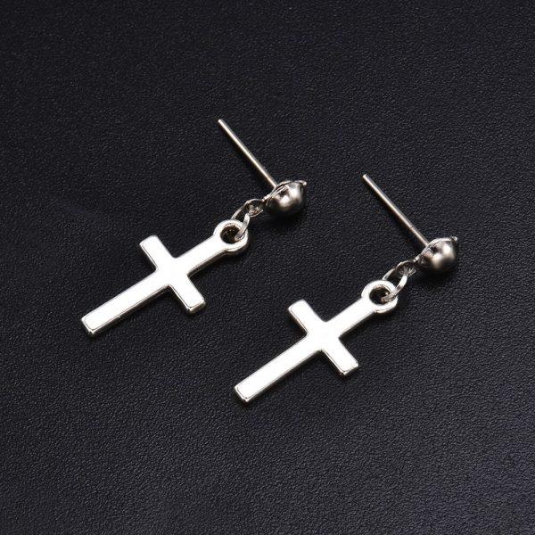 Cross pendant Earrings 4