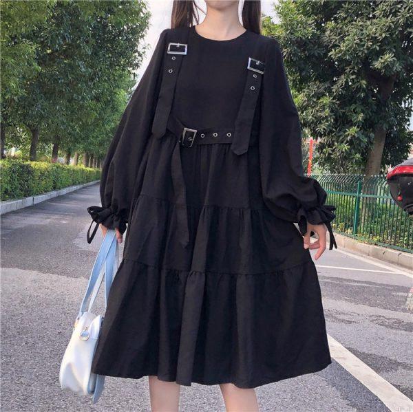 Harajuku Black Midi Dress 9