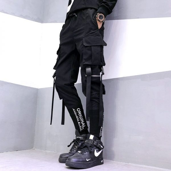 Streetwear Joggers  with Ribbons Pockets 2