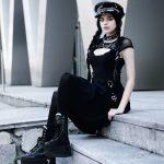 Black Dress with Mesh Shoulders 4
