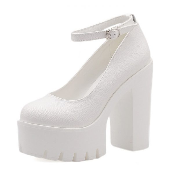 High-heeled platform shoe 6