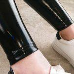 PU Leather Black Skinny Leggings 14