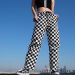 Checkered High Waist  Pants 8