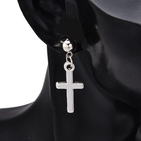Cross pendant Earrings 3