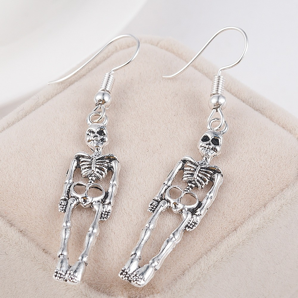 Skeleton Dangle Earrings E-girl Punk Gothic 43
