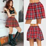 School Uniform Plaid Skirt 2