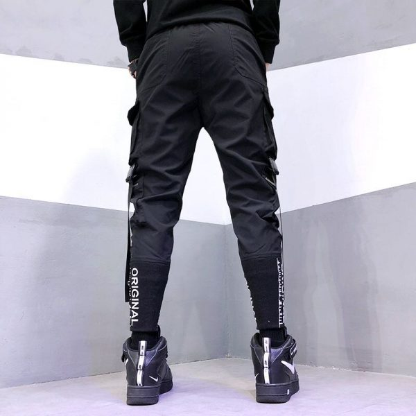 Streetwear Joggers  with Ribbons Pockets 3