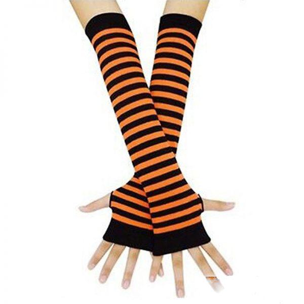 Knitted Long Fingerless Mittens 6