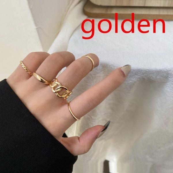 Resizable Rings set for fingers 12