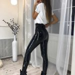 PU Leather Black Skinny Leggings 15
