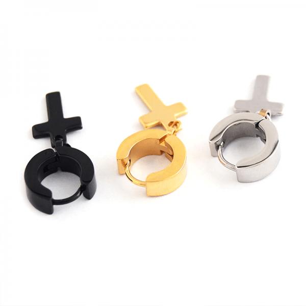 Earrings with Cross pendant 2
