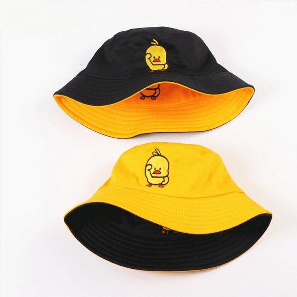 Bucket Hat reversible with cartoon embroidery