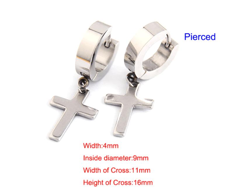 Earrings with Cross pendant 16