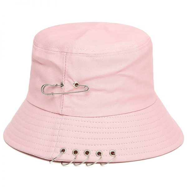 Bucket Hat with Pin Rings  5