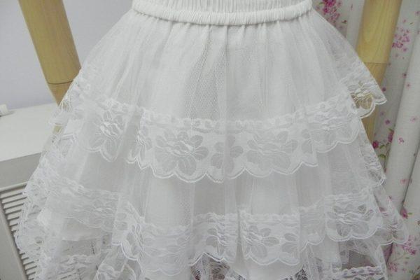 White/Black Lace Petticoat/Tutu Skirt 4