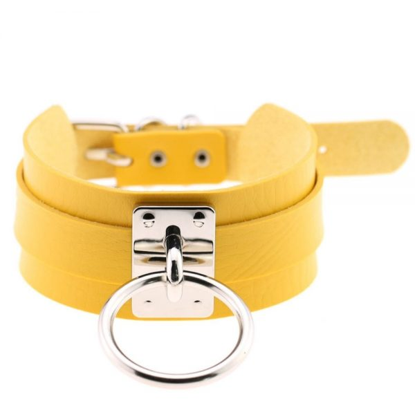 Wide Choker with Ring 37