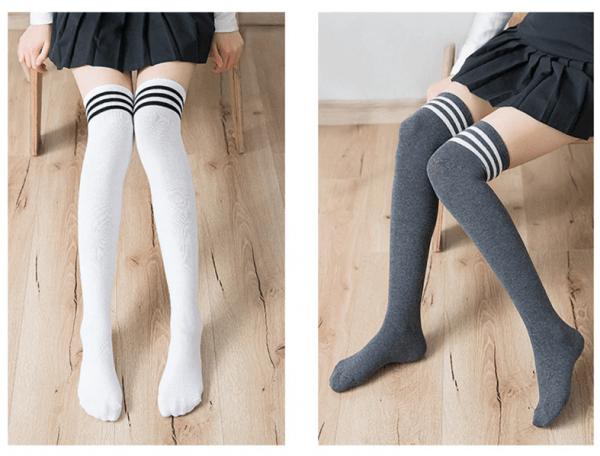 Cotton School Girl Over Knee Stockings 6