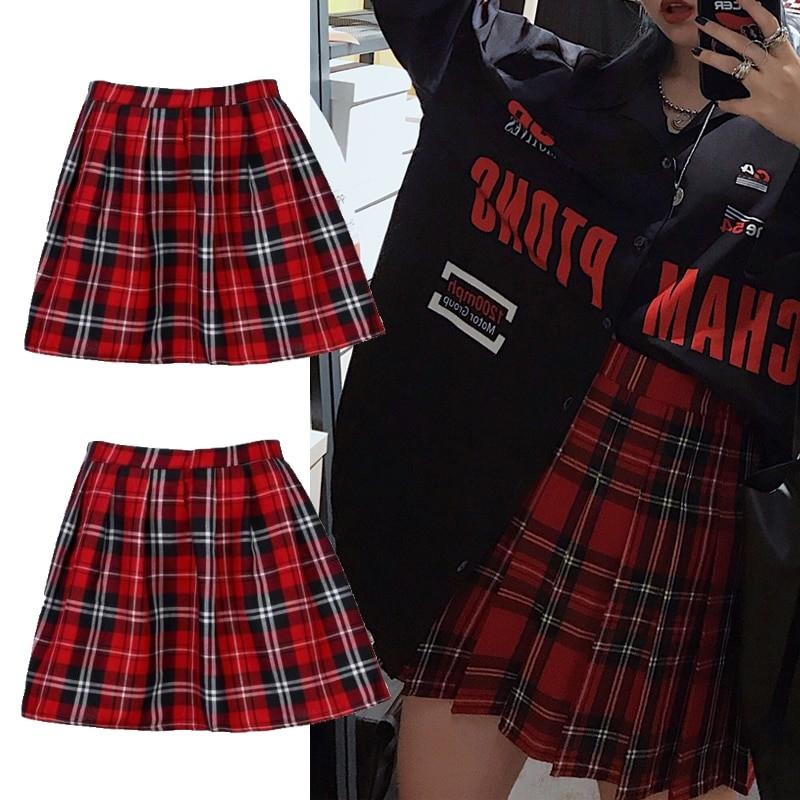 School Uniform Plaid Skirt E-girl Harajuku 41