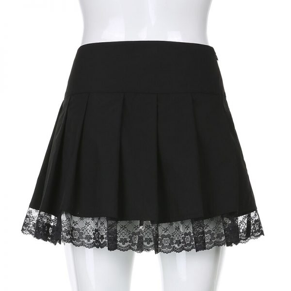 Lace Pleated Mini Skirt 6