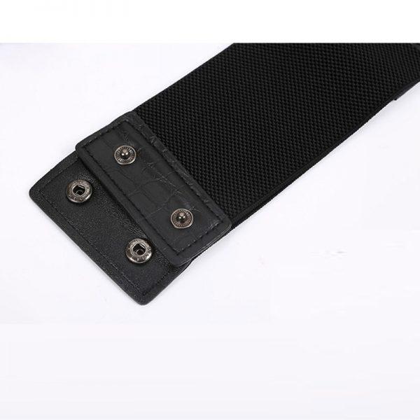 Wide Waist Elastic 5 Straps PU Belt 6