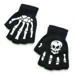 Knitting Half Finger Glove with Skeleton 3