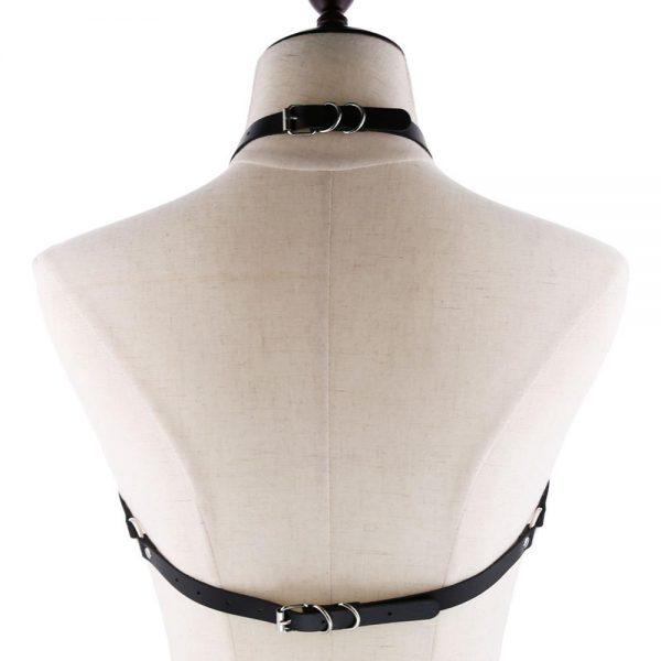 Pentagram shape Leather Body Harness  3