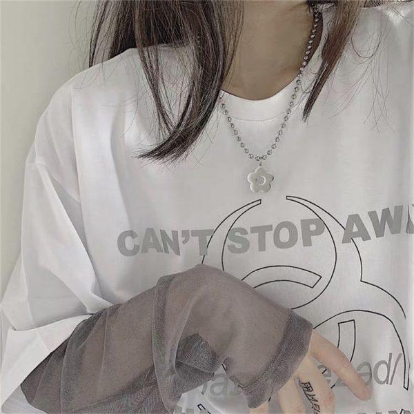Harajuku Kawaii Necklace with Flower 2