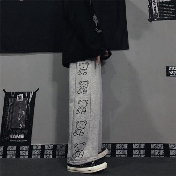 Wide Leg Pants with Cartoon Print 5