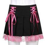 Lace Pleated Mini Skirt 10