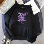 Dragon Print hoodie 4