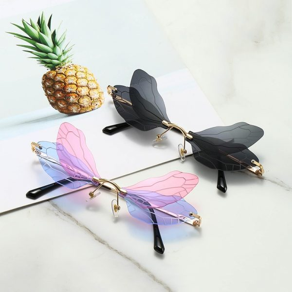 Rimless Dragonfly Wing Sunglasses 2