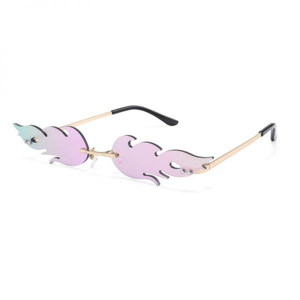 Rimless Flame Sun Glasses 2