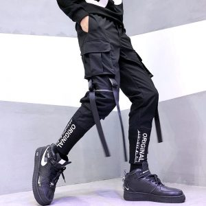 Streetwear Joggers  with Ribbons Pockets 4