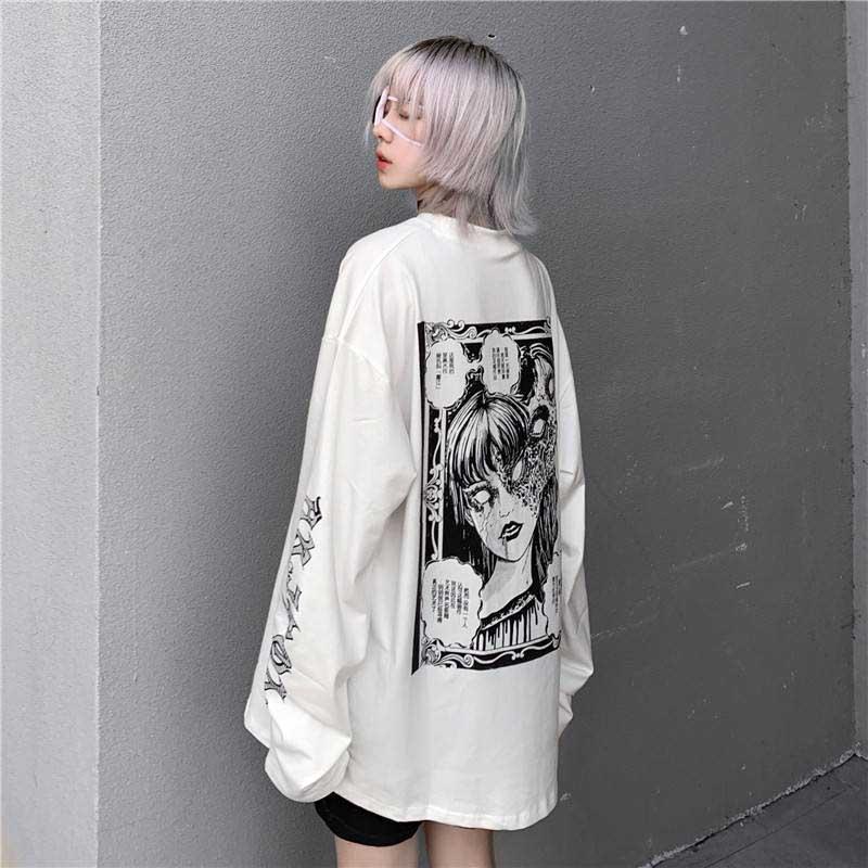 Cartoon Horror Graphic T-shirt E-girl 44