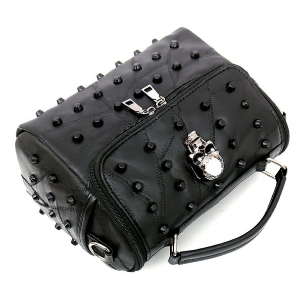 Crossbody Bag with Rivets and Skull 2