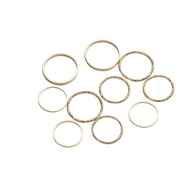 Resizable Rings set for fingers 42