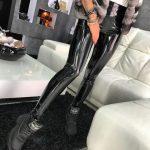 PU Leather Black Skinny Leggings 7