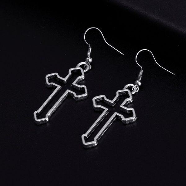 Cross Shape Earrings 1