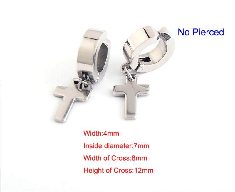 Earrings with Cross pendant 8